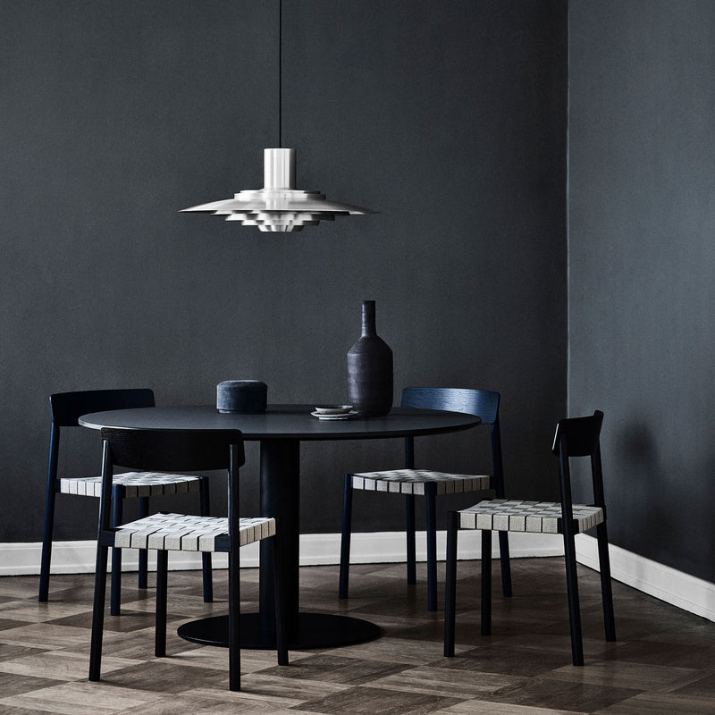 In Between Round Table - Center base, Black lacquered oak - Monologue London