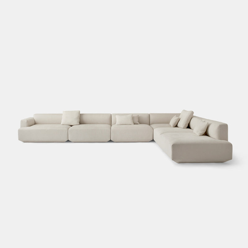 Develius Modular Sofa, Large - Beige - Monologue London