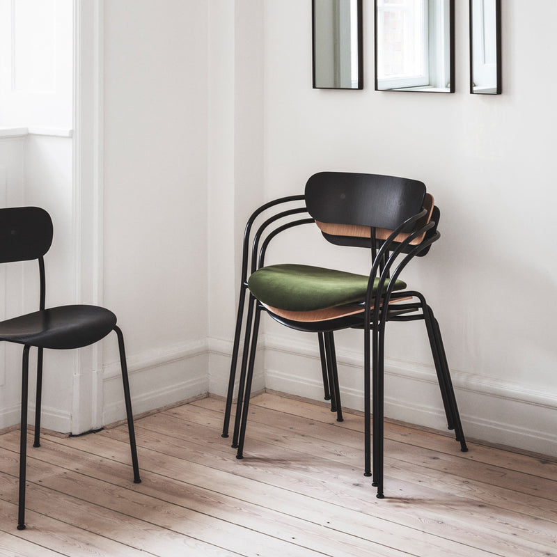 Pavilion Chair With Armrests AV4 - Black Lacquered Oak - Monologue London