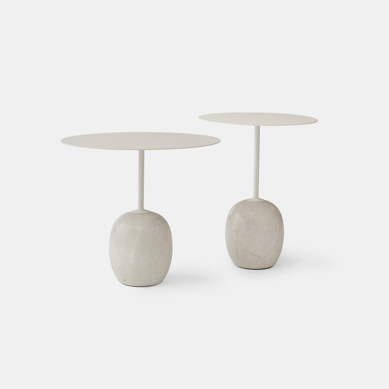 Lato Side Tables - Crema Diva marble - Monologue London