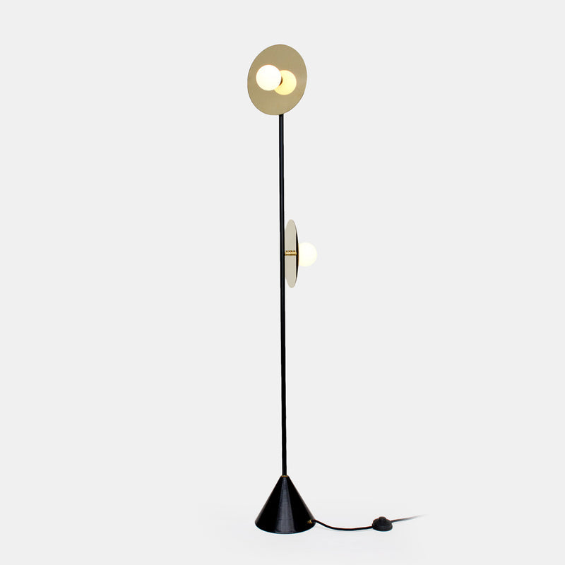 Disc and Sphere Floor Lamp - Monologue London