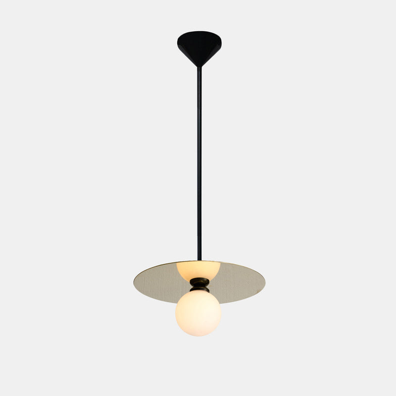 Disc and Sphere Pendant Lamp - Monologue London