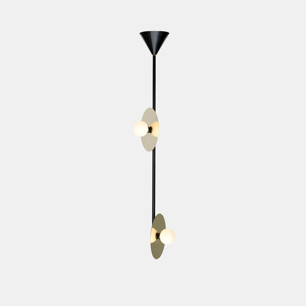 Disc and Sphere Pendant Lamp - Vertical 2 - Monologue London