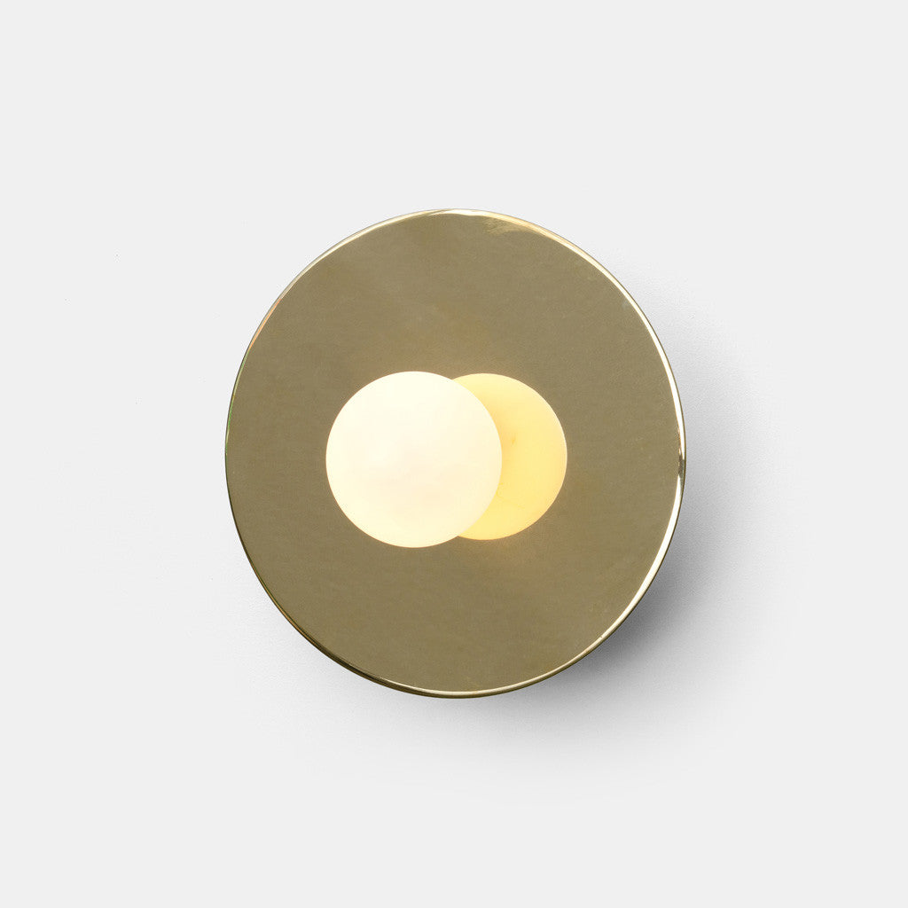 Disc and Sphere Wall Light - Monologue London