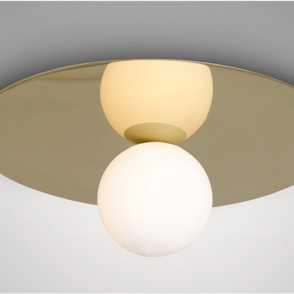 Plate and Sphere Ceiling Light - Monologue London