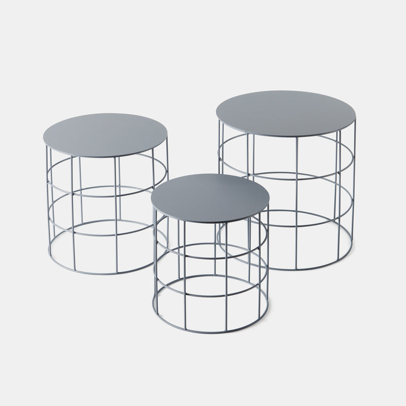 Reton Round Side Tables, Set of 3