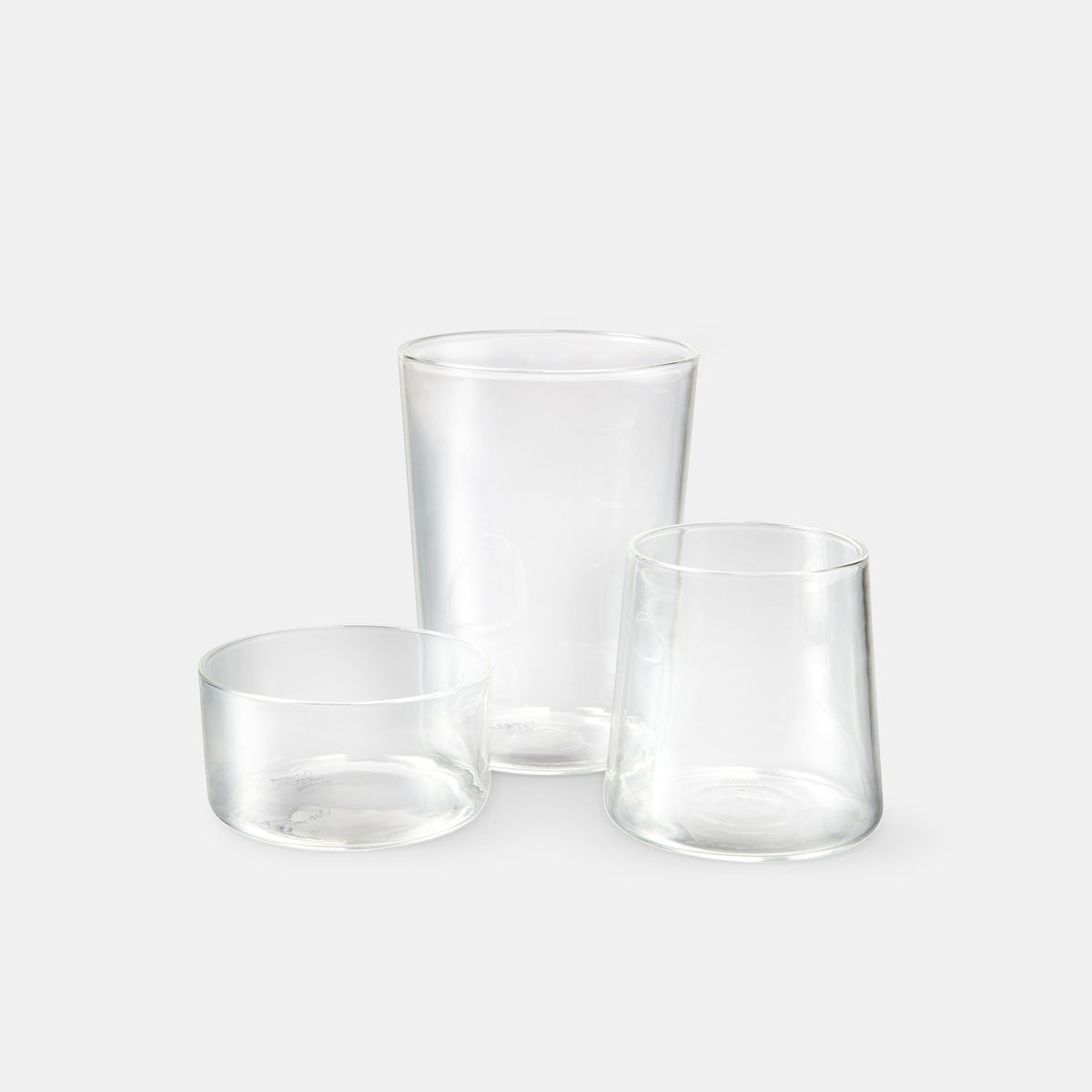WWW - Water, Wine & Whiskey - Set of 3 Glasses - Monologue London