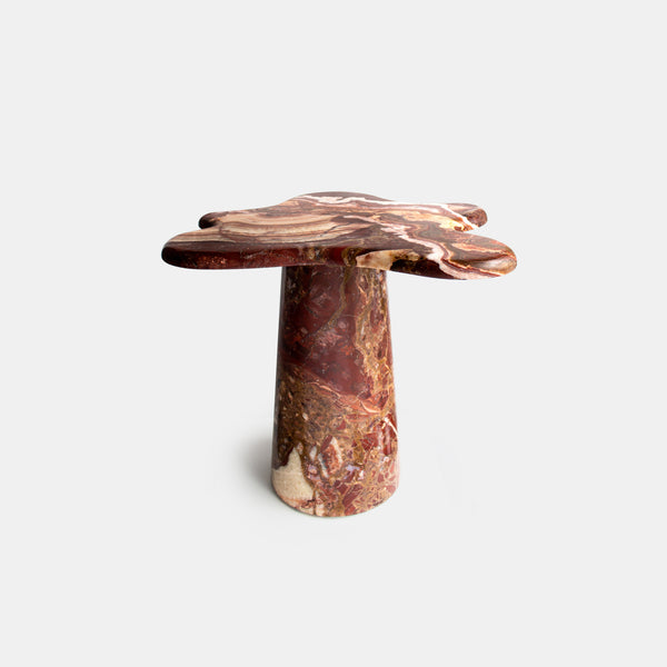 Ondamarmo Side Table - Red Vulcano