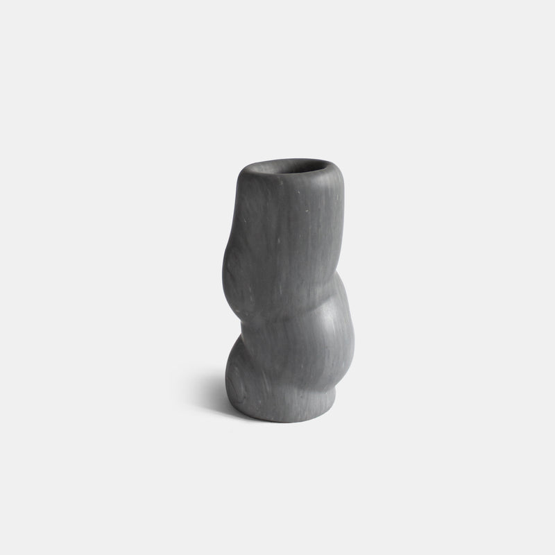 Fat Rolls Vase - Small, Grey Bardiglio - Monologue London