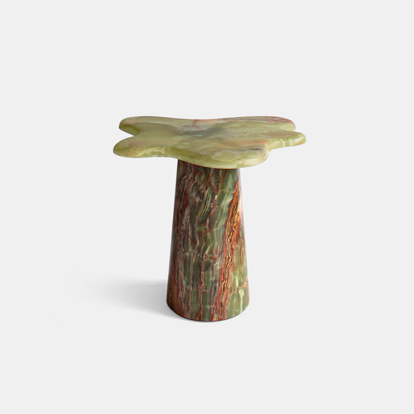 Ondamarmo Side Table - Green-Brown Onyx - Monologue London