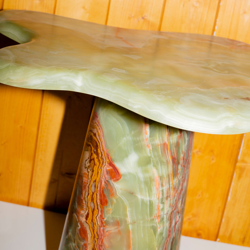 Ondamarmo Side Table - Green Brown Onyx - Monologue London