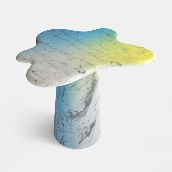 Ondamarmo Side Table - Carrara + Varnish, Special Edition - Monologue London