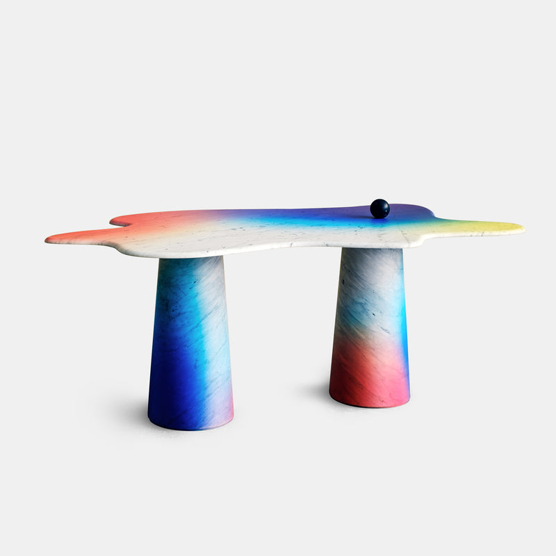 Ondamarmo XL Table - Carrara + Varnish - Monologue London