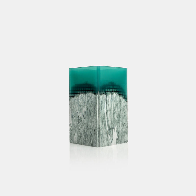 Agua Orilla Marble Vase - Green - Monologue London