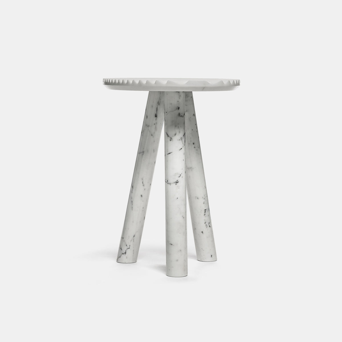 Rabbet Table - Calacatta Marble