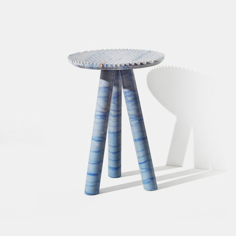 Rabbet Coffee Table - Azul Macaubas Marble - Monologue London