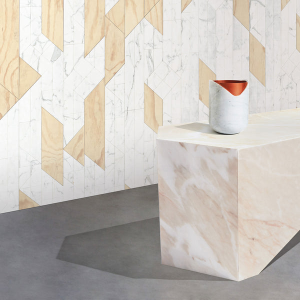 Rabbet Vase 02 - Marble & Copper - Monologue London