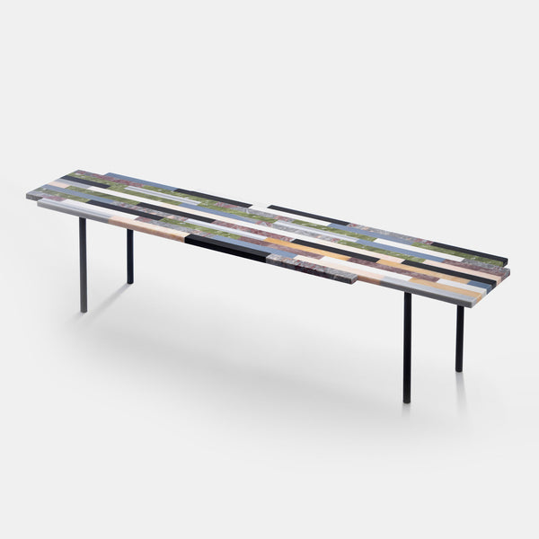 Zig Zag Coffee Table - Linear Structure - Ex Display - Monologue London