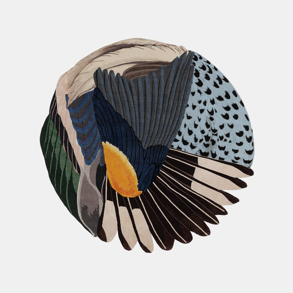 Feathers Rug - Round - Monologue London