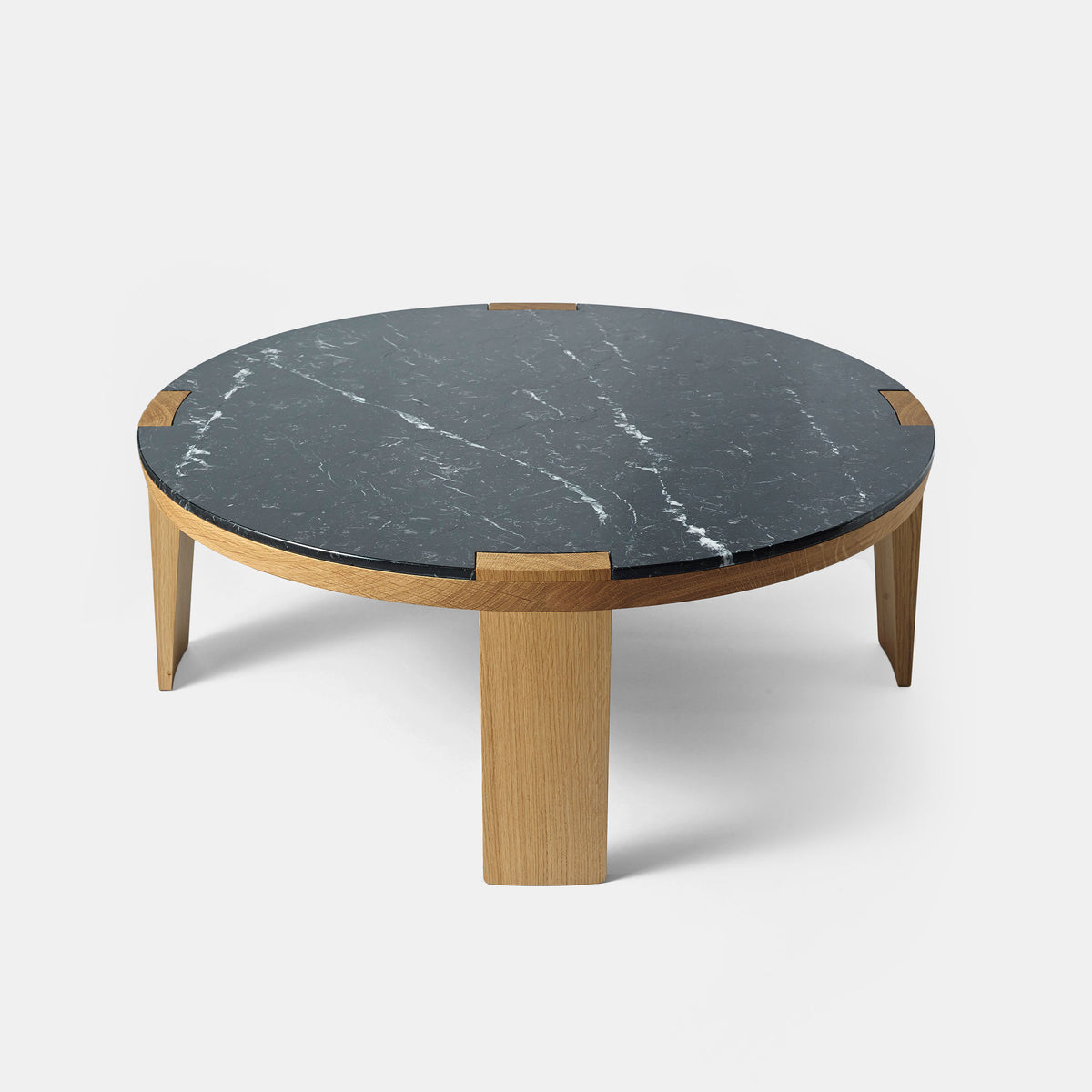 Sumo Side Table - Black Marquina - Monologue London