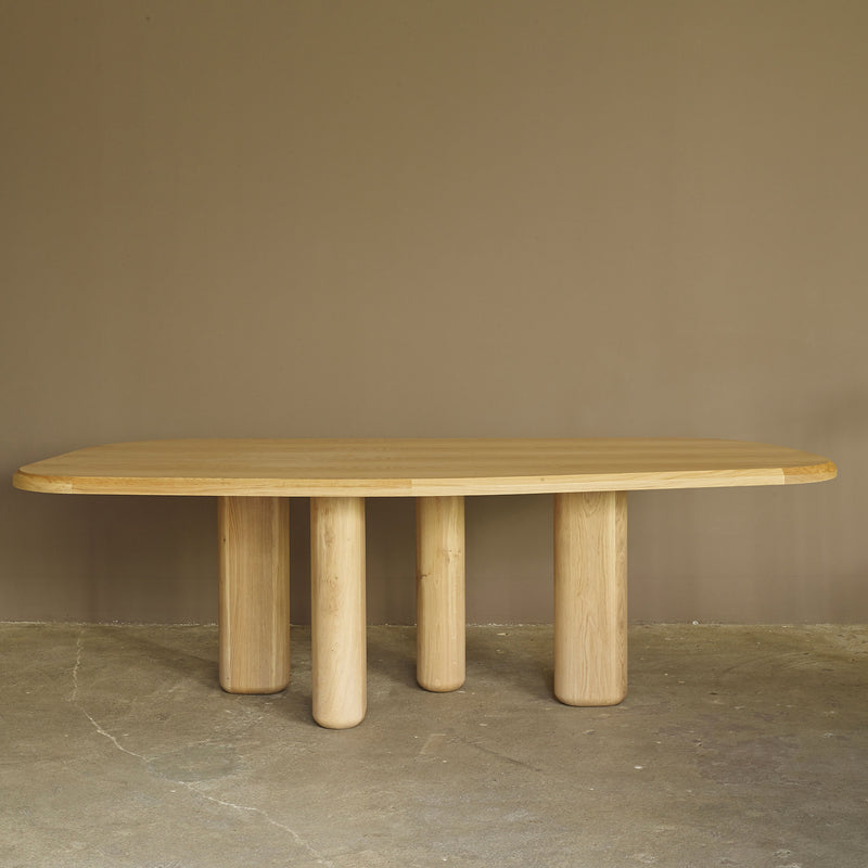 Rough Dining Table - Natural Oak - Monologue London