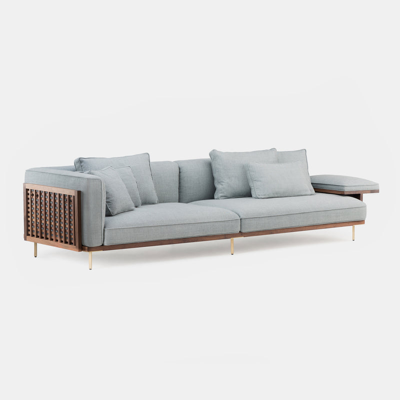 Belle Reeve One Armed Sofa - Long