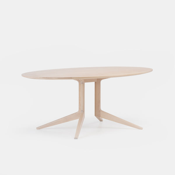 Light Oval Dining Table