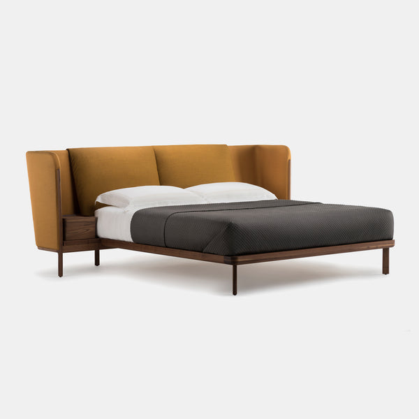 Low Dubois Bed w/Side tables