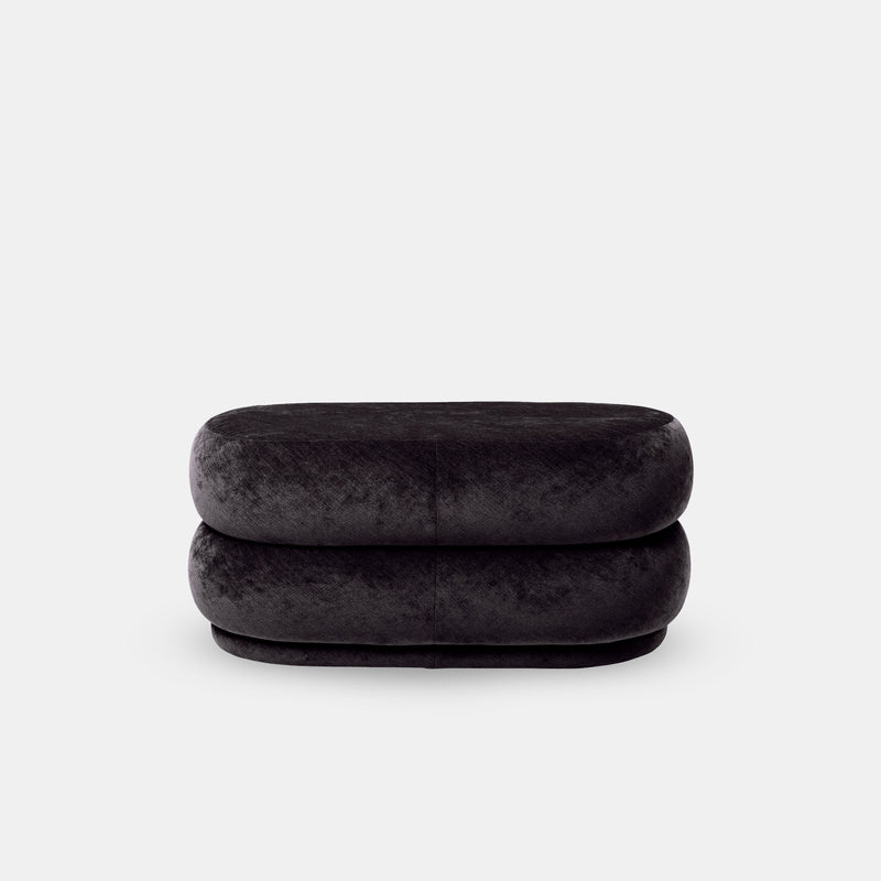 Pouf Oval - Medium, Faded Velvet