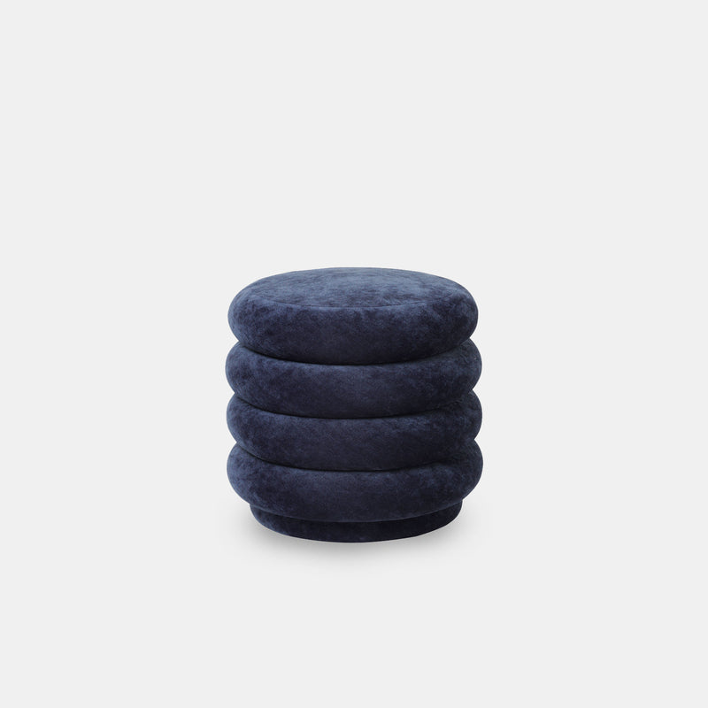 Pouf Round - Small, Faded Velvet - Monologue London