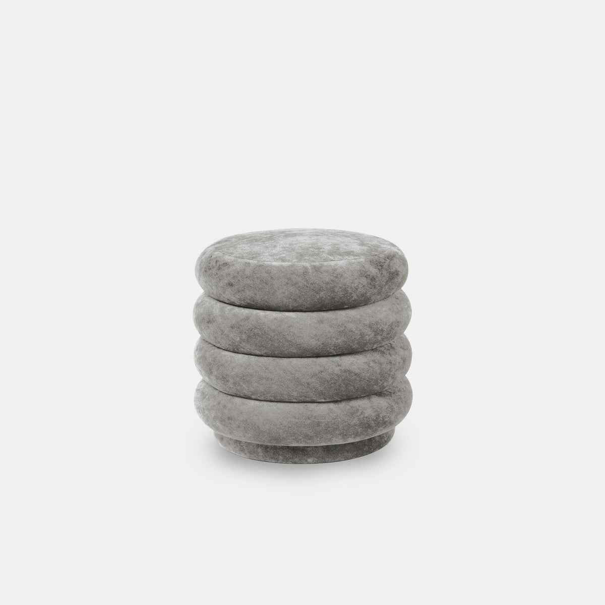 Pouf Round - Small, Faded Velvet