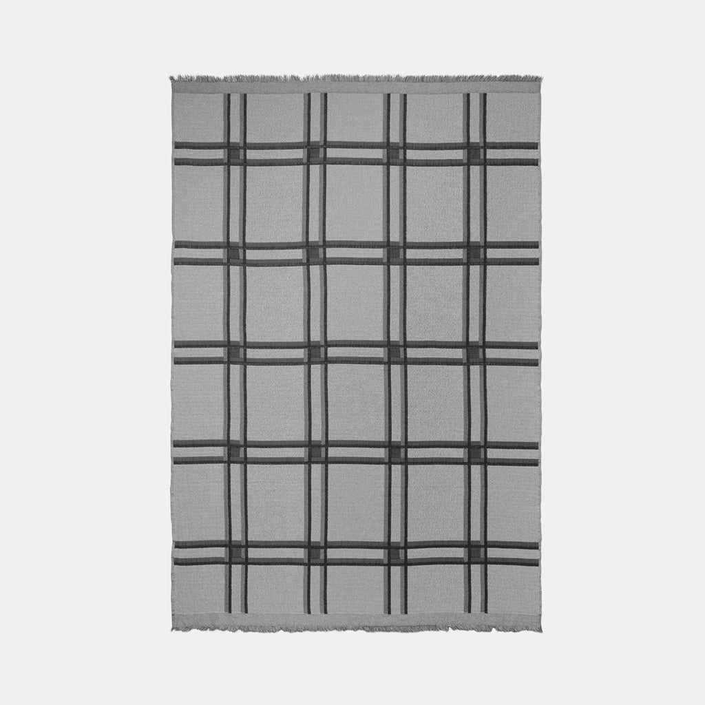 Checked Wool Blend Blankets - Monologue London