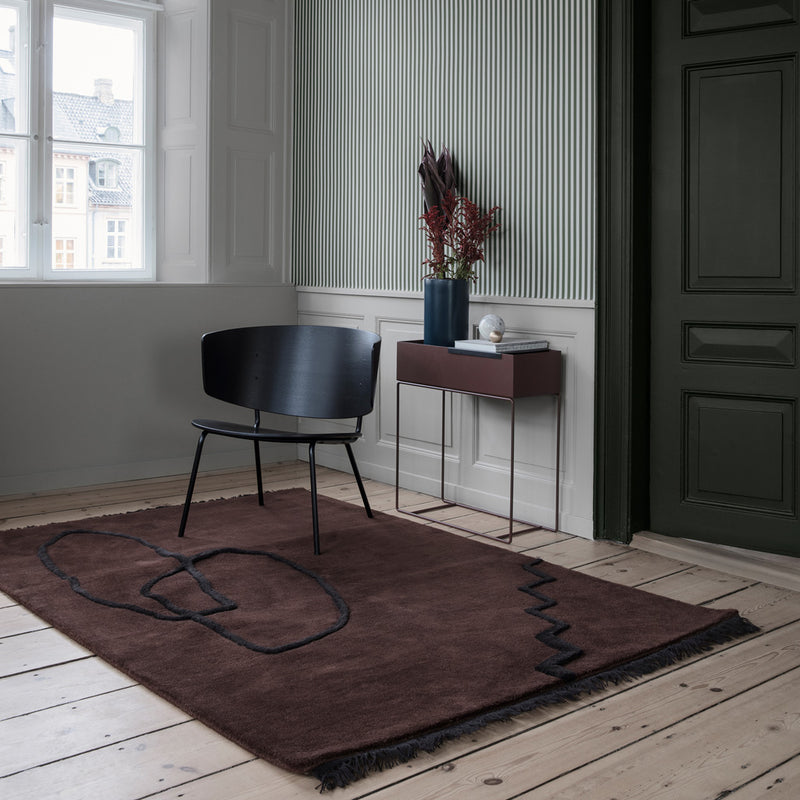 Desert Tufted Rug - Red Brown - Monologue London