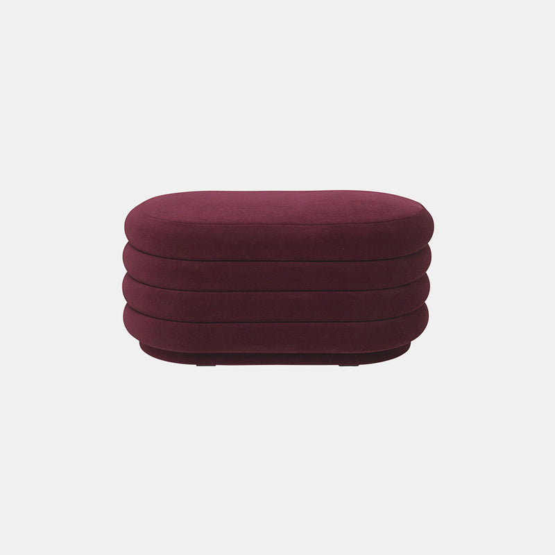 Pouf Oval - Medium, High Pile Velvet - Monologue London
