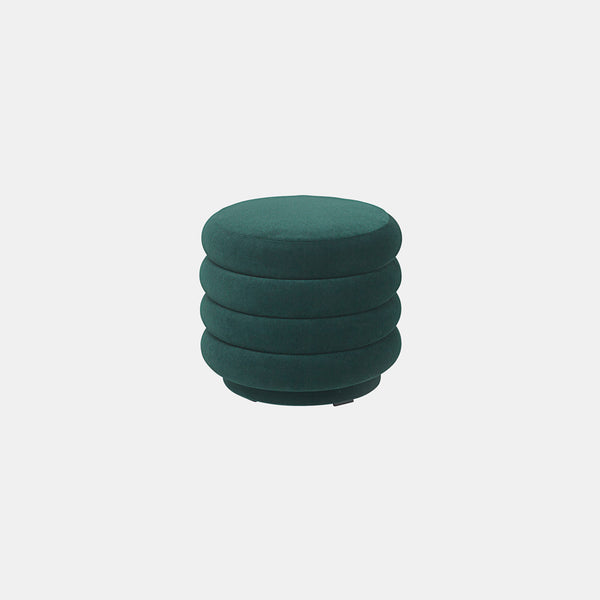 Pouf Round - Small, High Pile Velvet - Monologue London