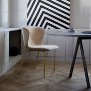 Saw Rounded Table - Grey Ash Veneer - Monologue London