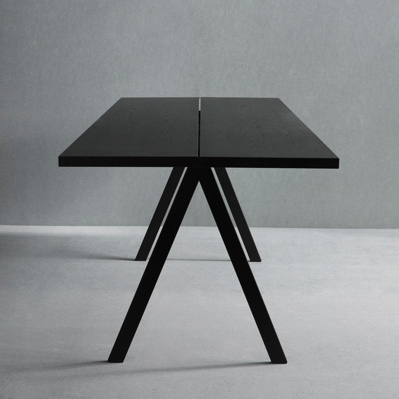 SAW Dining Table - Black ash - Monologue London