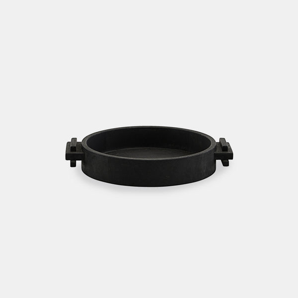 Block Round Tray - Black - Monologue London