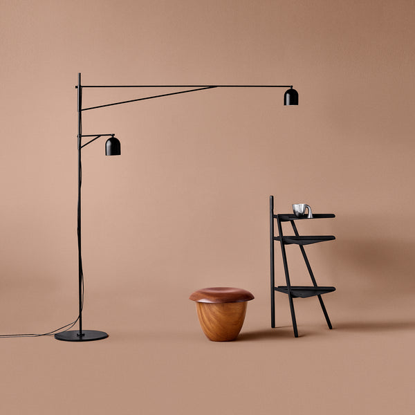 Awkward Floor Lamp - Black - Monologue London
