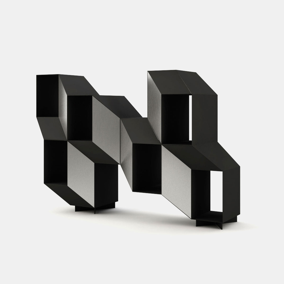 Rocky Shelving Unit - Black - Monologue London