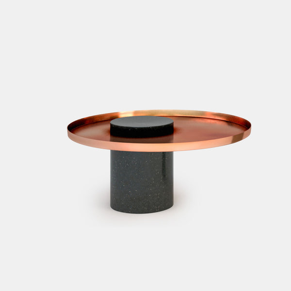Salute Low - Black Marble Column & Copper Tray - Monologue London