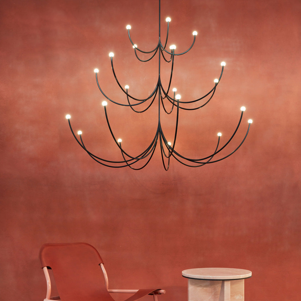 Arca Chandelier - 3 Tier Pendant - Monologue London