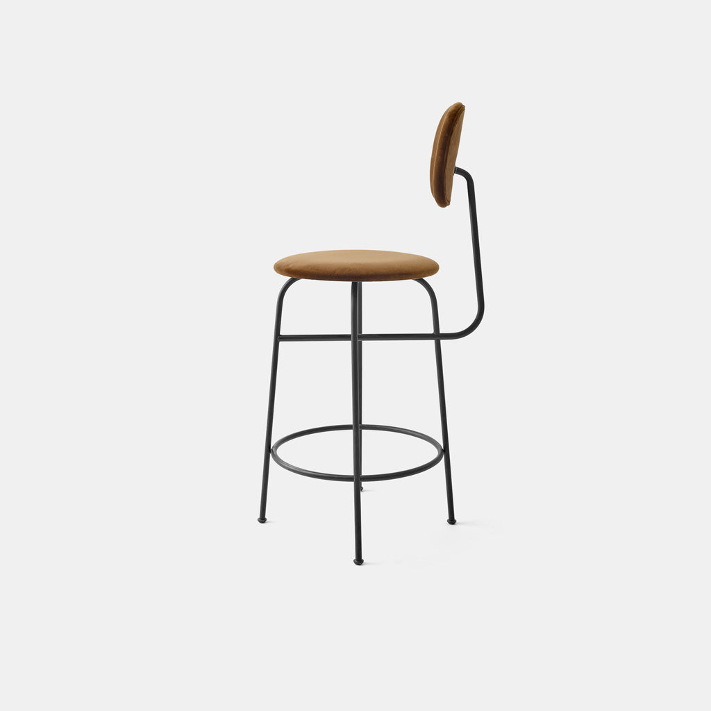 Afteroom Bar Chair Plus - Dark beige velvet - Monologue London