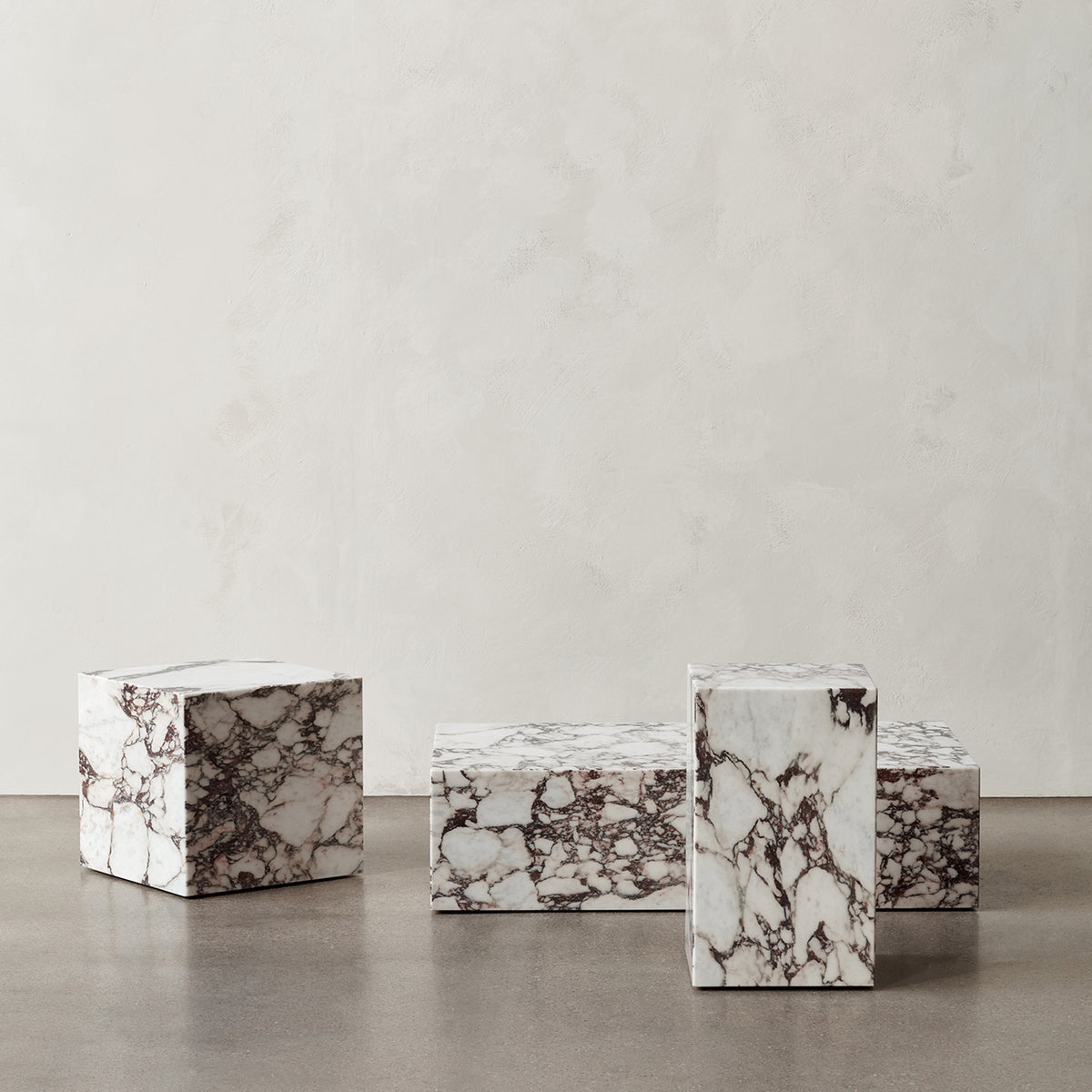 Plinth Tall Side Table - Calacatta Viola marble - Limited Edition