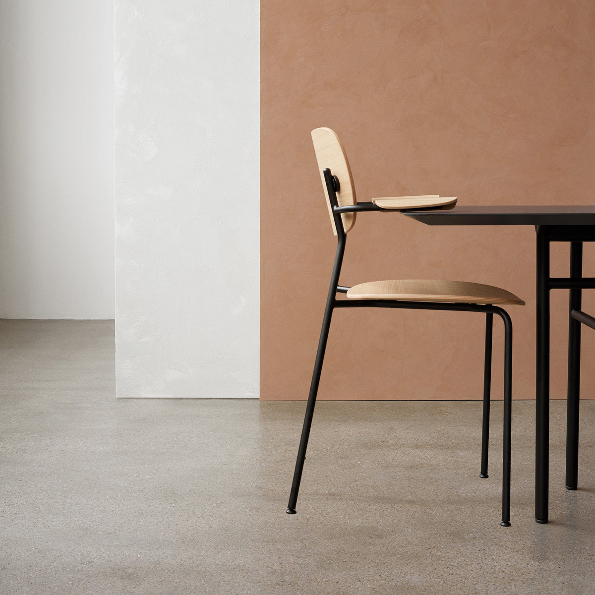 Co Chair - Dark oak/Upholstered Seat - Monologue London