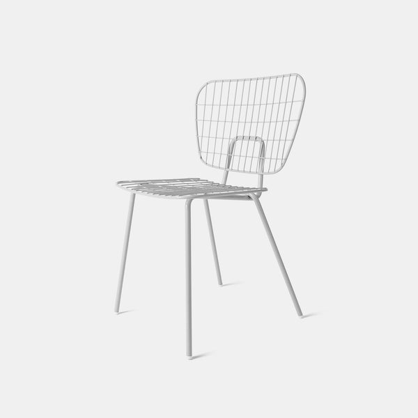 WM String Dining Chair, White - Monologue London