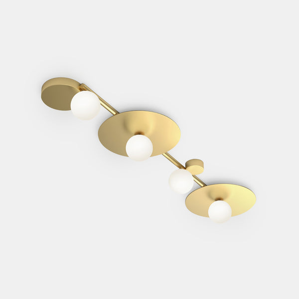 Line and Globes Ceiling Light - Discs