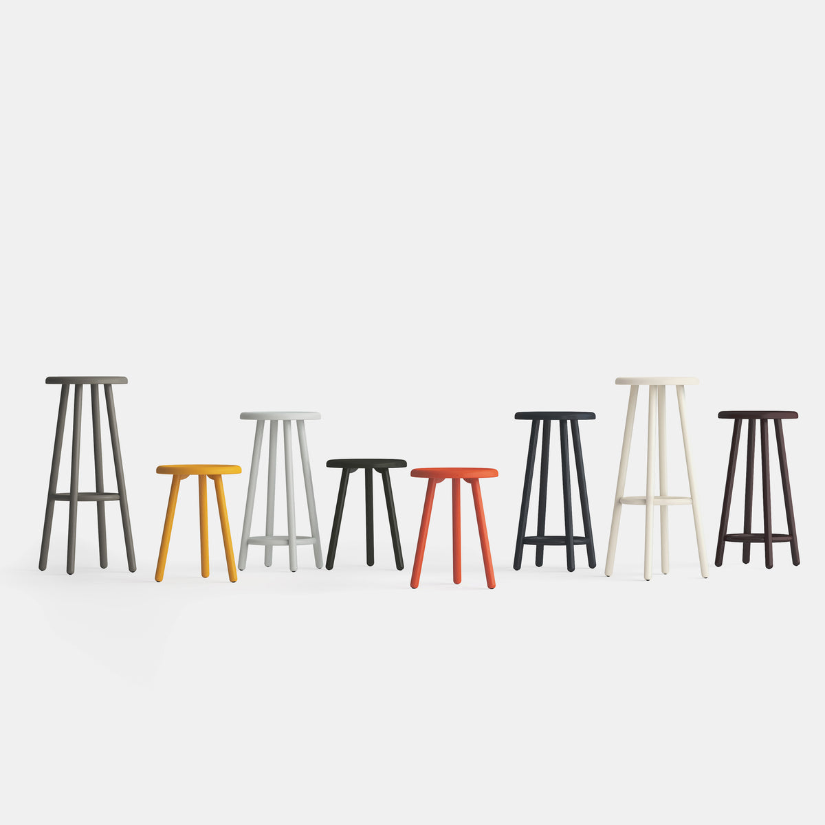Montmartre Barstool - Coral Red