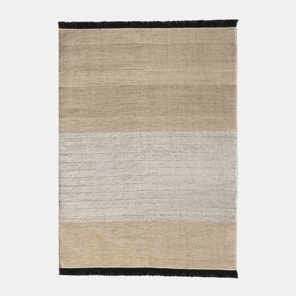 Tres Stripes Outdoor Rug - Black - Monologue London