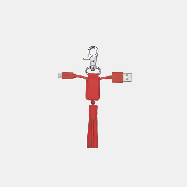 Power Link - Key Chain - Coral Leather - Monologue London
